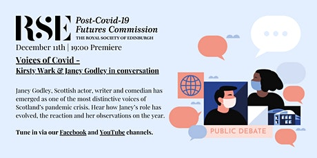 Voices of Covid – Kirsty Wark and Janey Godley in conversation tickets
