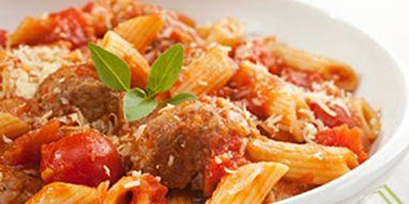 Club Italia Curbside Takeout featuring Penne and Eggplant Parmesan tickets
