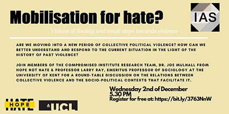 Mobilisation for Hate? Visions of society and small steps towards violence tickets