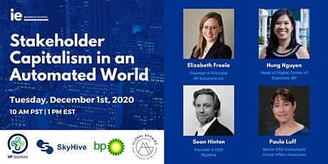 Stakeholder Capitalism in an Automated World - Canada tickets