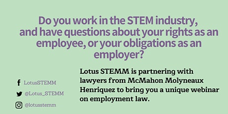 Employment & Human Rights Law for Women and Entrepreneurs in STEM tickets