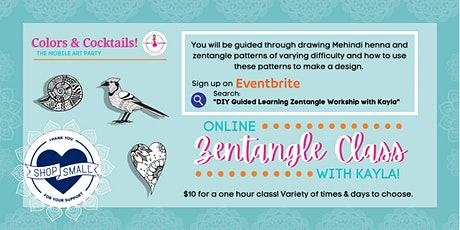 DIY Guided Learning Zentangle Workshop with Kayla! tickets