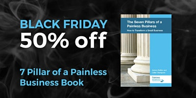 BLACK FRIDAY SALE: 50% Off 7 Pillars of a Painless Business Book