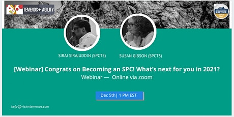 [Webinar]Congrats on Becoming an SPC! What's next for you in 2021?  (Dec 5) tickets