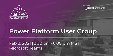 Calgary Power Platform User Group Meeting | February bilhetes