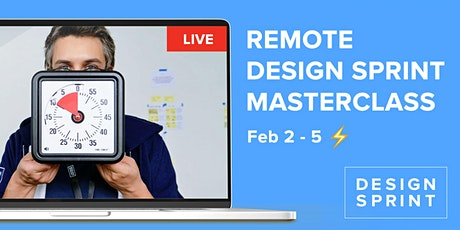 4 -day Remote Design Sprint Masterclass  with certificate Design Sprint Ltd entradas