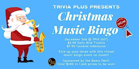 Christmas Music Bingo   Virtual Event tickets