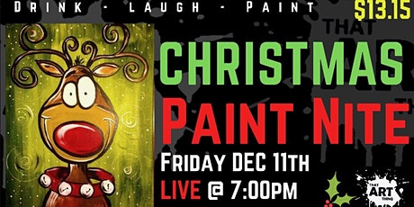 Date Night Paint Night - the one with the Reindeer tickets