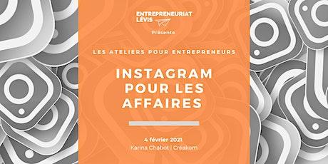 Instagram pour les affaires par Karina Chabot | Créakom billets