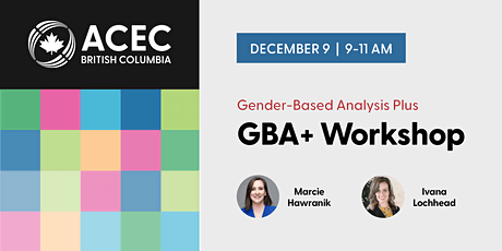 Gender-Based Analysis Plus (GBA+) Workshop tickets