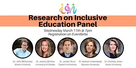 Research on Inclusive Education Panel biglietti