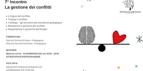 Settimo incontro  - La gestione dei conflitti biglietti