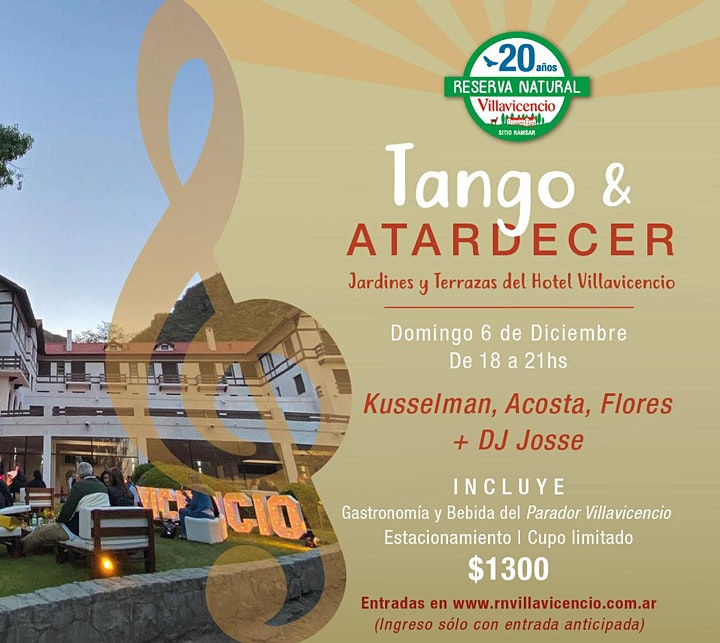 Imagen de Tarde de Tango en las Terrazas y Jardines del Hotel Villavicencio