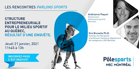 les rencontres Parlons sports : Innovation & sport billets