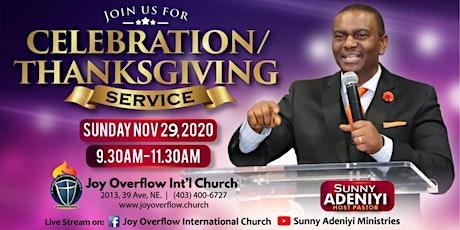 Celebration / Thanksgiving Sunday Worship Service tickets