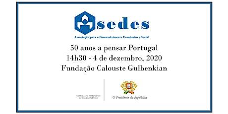 50 anos a pensar Portugal bilhetes
