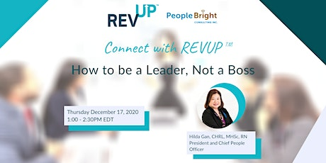 Connect with REVUP™: How to be a Leader and not a Boss tickets