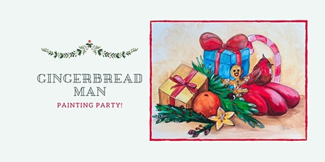 "Virtual  Painting Workshop ""Gingerbread Man"" with Christmas gifts. tickets"