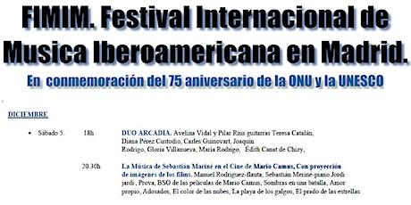 Festival internacional de Música Iberoamericana en Madrid (5/12/20 20.30h) entradas
