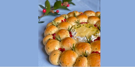 ONLINE Baked Cheese Bread Wreath - cooking class with Madebyflour tickets