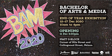 BAM2020 - Bachelor of Arts and Media student exhibition tickets