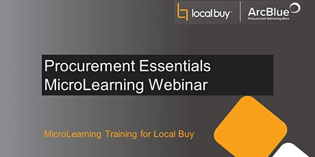 Procurement Essentials MicroLearning Webinar tickets