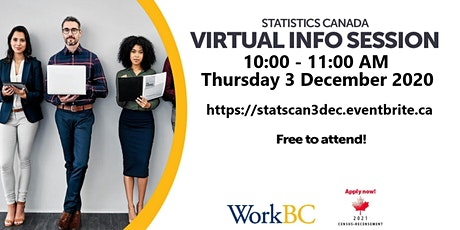 Statistics Canada 2021 Census Recruitment Information Session tickets