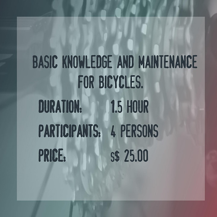 Workshop: Basic knowledge and maintenance for bicycles -  Sat, 24/4, 09:30 image