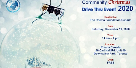 2020 Community Christmas Drive Thru Event tickets