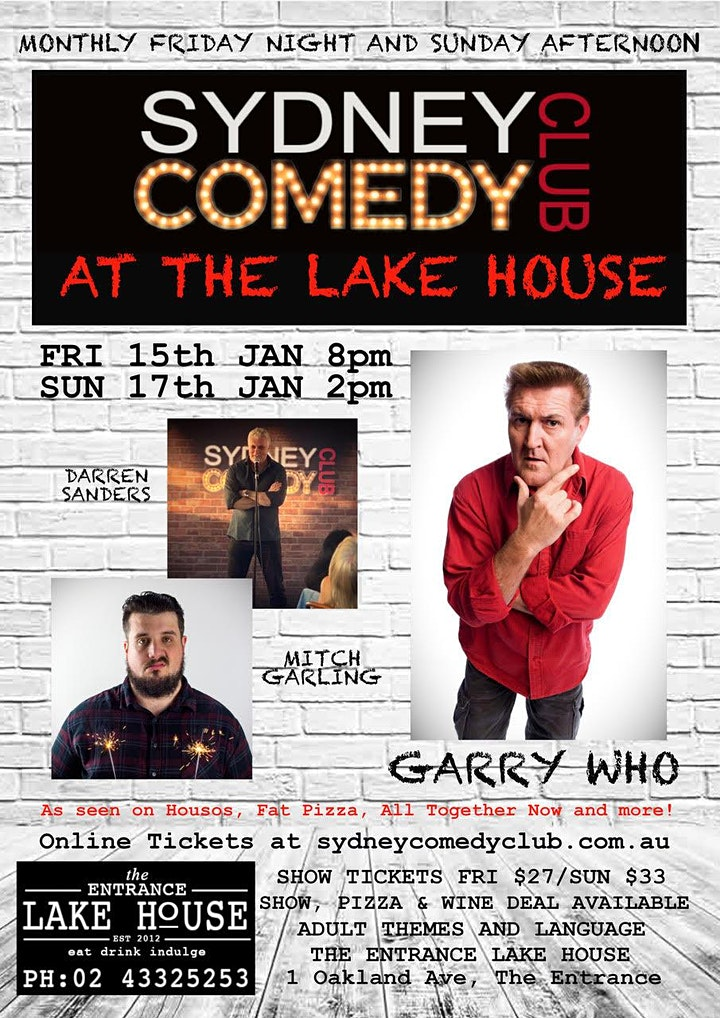 Friday Night Comedy at The Entrance with Garry Who & Darren Sanders image