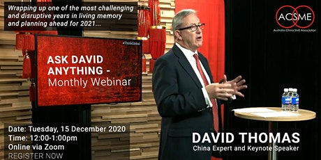 Ask David  Anything - Monthly Webinar tickets