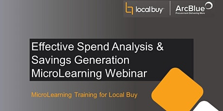 Effective Spend Analysis & Savings Generation MicroLearning Webinar tickets