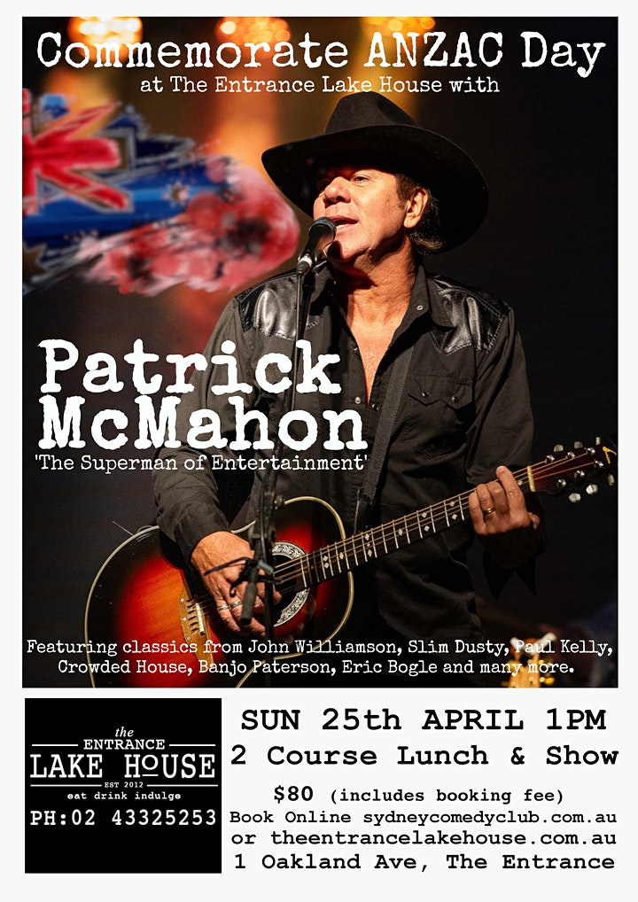 Commmemorate ANZAC Day with Patrick McMahon and Australia's greatest songs image