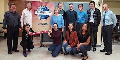 Improve Public Speaking & Debates Skills - Fyrebyrde Toastmasters Vancouver tickets