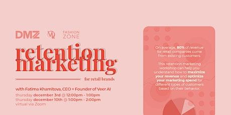 Retention Marketing Webinar tickets