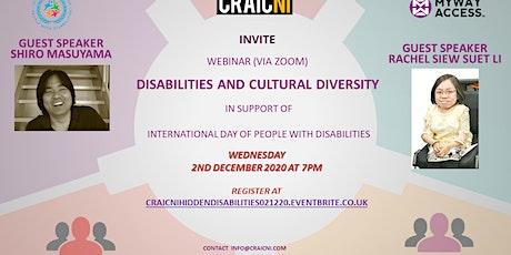 Hidden Disabilities: Disabilities and Cultural Diversity (IDPWD) tickets