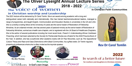 The Oliver Lyseight Annual Lecture 2021 tickets
