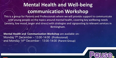 Mental Health Communication Workshop (Professionals only) tickets