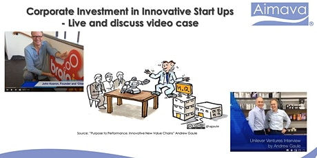Corporate Investment in Innovative Start Ups - Live and discuss video case tickets