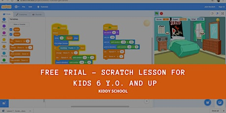 Free Trial - Scratch Lesson for kids 6 y.o. and up tickets