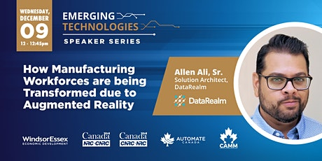 2020 Emerging Technologies in Automation Speaker Series - DataRealm tickets
