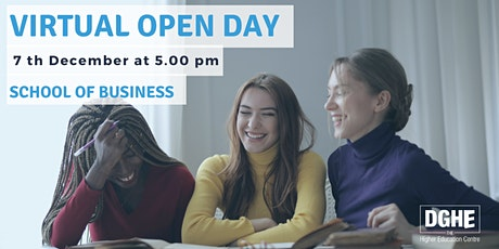 Virtual Open Day School of Business tickets
