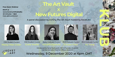 The Art Vault x New Futures Digital tickets