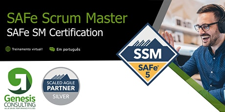 SAFe Scrum Master 5.0 certificação SAFe SM  - Live OnLine - Português ingressos