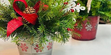 Christmas bucket fresh floral workshop tickets