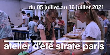 L'ATELIER D'ÉTÉ À STRATE  PARIS - DU 05/07 AU 16/07/2021 À MI-JUILLET 2021 tickets