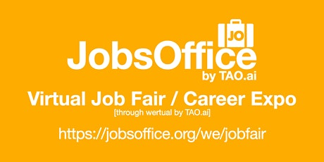 JobsOffice Virtual Job Fair / Career Expo Event #San Francisco tickets