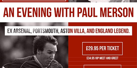 AN EVENING WITH PAUL MERSON tickets