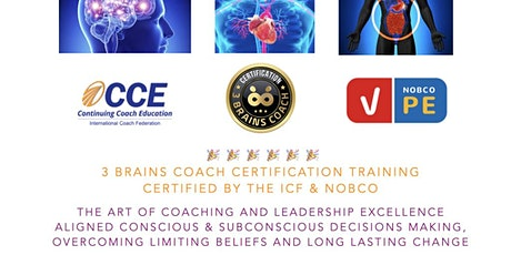 3 Brains Coach Certification ICF CCEU & NOCBO Accredited tickets