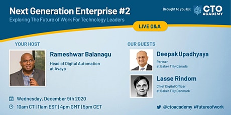 Next Generation Enterprise: Exploring Future of Work For Technology Leaders tickets